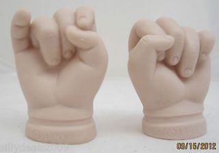 TYNER 1993 Closed Baby Hands Replacement Porcelain Doll Supplies Hands