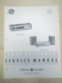 Manual~M8600C/M8610C Tape Player/8 Track~Original~General Electric