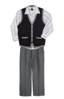 Ike Behar Shirt, Sweater Vest & Pants (Toddler)