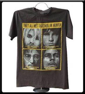 Nirvana Kurt Cobain Jim Morrison John Lennon t shirt vintage punk rock