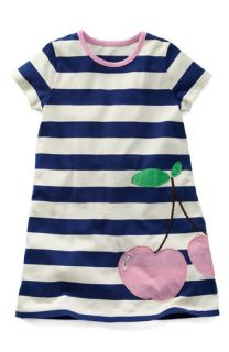 Mini Boden Stripe Appliqué Jersey Dress (Little Girls & Big Girls)