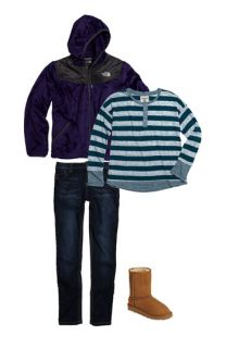 The North Face Jacket & Jolt Skinny Jeans (Big Girls)