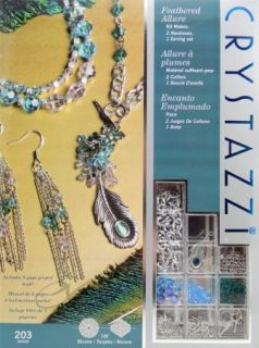 Jewelry Making Kit by Cousin Crystazzi Feathered Allure 203 PC