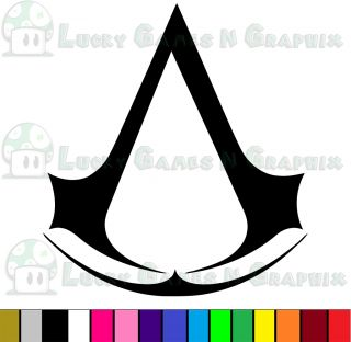 Assassins Creed Crest Sticker Decal JDM Game Car Xbox PS3 Any Color 5