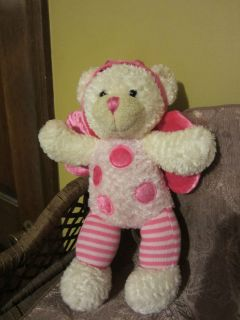 Dan Dee Plush Collectors Choice Bear With Pink wings antanas and pink