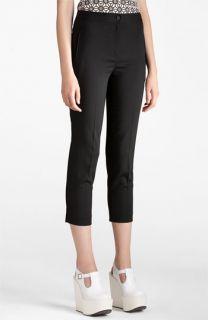 Jil Sander Navy Stretch Wool Crop Pants