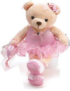 Ballerina Plush Stuffed Animal 9 Pink Tutu Dance Gift Dancer