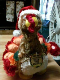 Christmas Holiday Sing Dance Animated Turkey Plush Animal New