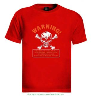 Danger Biker Warning T Shirt Gothic Bones Clothes