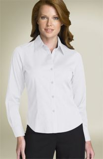 Foxcroft Fitted Stretch Cotton Shirt (Petite)