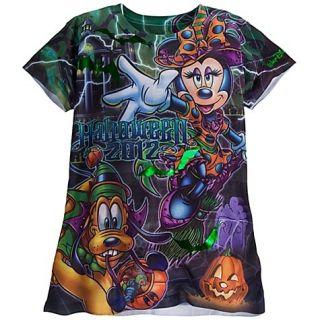 Disney World Halloween 2012 Minnie Haunted Mansion Shirt Women Ladies
