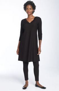 Eileen Fisher Stretch Crepe V Neck Dress