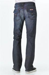 Hudson Jeans Jaxx Slim Straight Leg Jeans (Haymaker Dark Blue Wash)