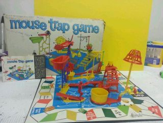 Ideal Mouse Trap Game 1963 Good condition for vintage board game