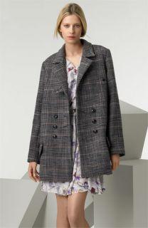 Chloé Plaid Wool Blend Coat