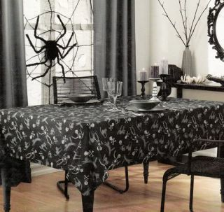 Skeleton Print Debbie Mumm 60 x 102 Rectangle Fabric Tablecloth