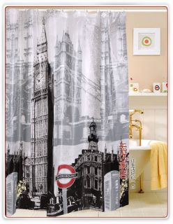 london s big ben pattern eva shower curtain w4802 the shower curtain