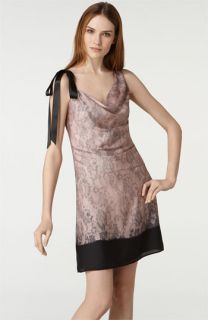 RED Valentino Bow Shoulder Lace Print Dress