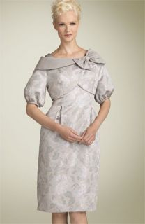 Cachet Metallic Brocade Dress with Bolero Jacket