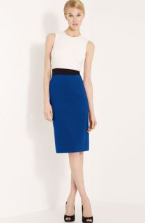 Michael Kors Colorblock Stretch Wool Crepe Dress