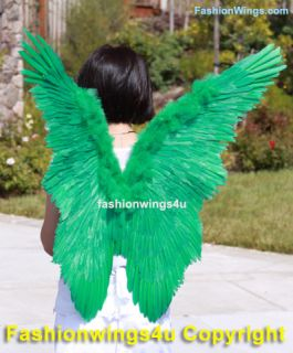 Green Butterfly Tinkerbell Feather Wings Angel Fairy Marcaw Parrot