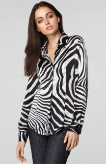 Zebra Print Silk Blouse 72