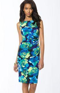 Lauren by Ralph Lauren Elaina Print Jersey Sheath Dress
