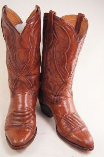 Dan Post Brown Leather Vintage 10 5 D Mens Western Boots