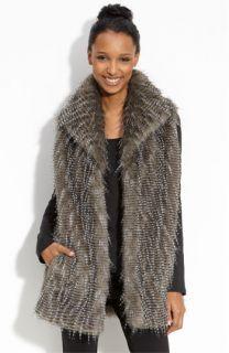 Kristen Blake Faux Fur Vest (Plus)