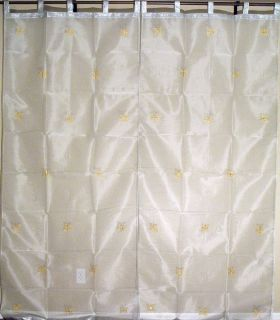 Embroidered Panels 2 Sheer Window Door Curtains from India 90in