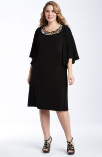 Lily Bead Neck Batwing Dress (Plus)