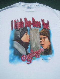 Christmas Story I Triple Dog Dare You Large T Shirt