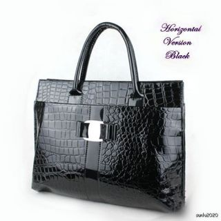 Luxury Handbag Crocodile Pattern Hobo Shopping Shopper Handbag Tote