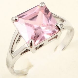 Large Radiant Cut Pink Sapphire A075 Ring
