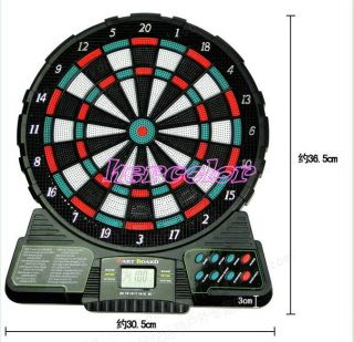 LED Display 6 Darts Electronic Dart Board Score Brand New