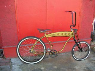 Custom built vintage Hercules bicycle, lowrider beach cruiser style