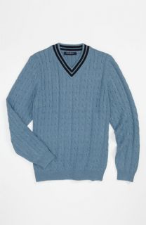 Brooks Brothers Cable Knit Sweater (Big Boys)