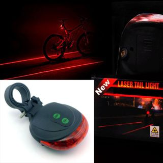 New 2012 Cycling Bike Bicycle 5 LED Flash Safety Laser Beam Rear Tail