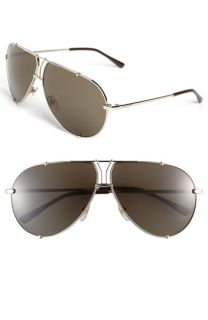 Yves Saint Laurent Metal Aviator Sunglasses