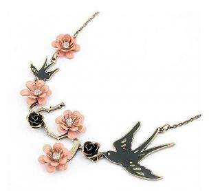 Vintage Fashion Necklaces Swallow Plum Blossom Pendants 2011 Hot