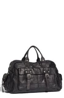 John Varvatos Star USA Washed Leather Duffel Bag
