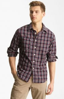 Billy Reid Elkins Plaid Woven Shirt