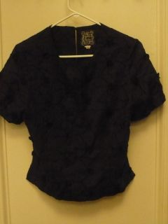 Cynthia Rowley Cute Black Flower Top