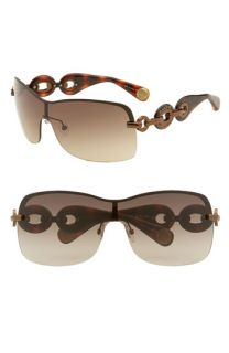 MARC BY MARC JACOBS Rimless Shield Sunglasses with Chain Detail