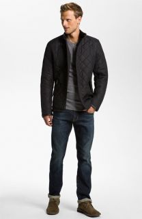 Barbour Quilted Jacket & AG Jeans Straight Leg Jeans