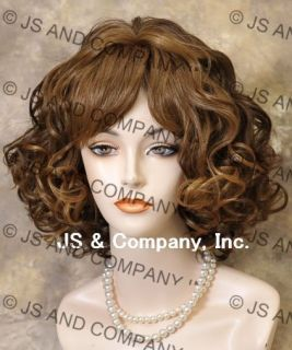 Short Full Human Hair Blend Perfect Curly Wavy Strawberry Blonde N