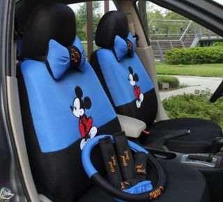 2012 New Cute Mickey Mouse Seat Covers Car Seat Cover Blue