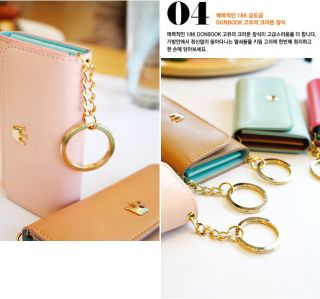 Card Case Holder Key Chain Purse Wallet_Donbook Crown Key Ring Wallet