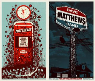 Dave Matthews Band Noblesville IN Deer Creek Poster Print 2009 N1 and