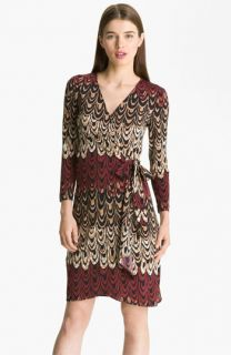 BCBGMAXAZRIA Adele Printed Jersey Wrap Dress